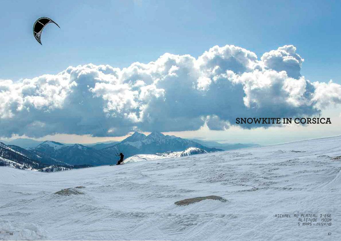 SnowKite au plateau d'Ese